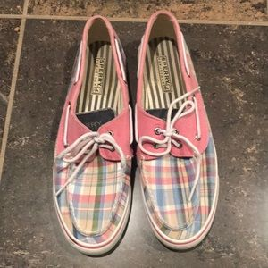 Sperry plaid top siders